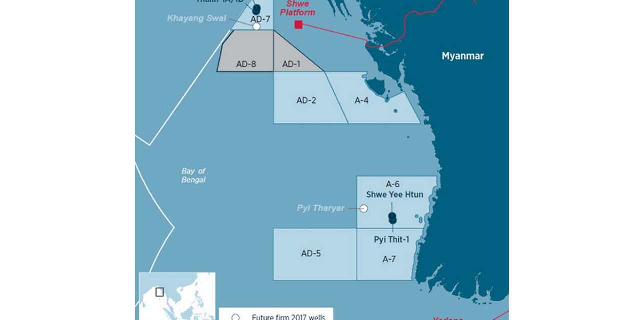 China and Australia to begin test drilling in oil block AD-8 near Sittwe