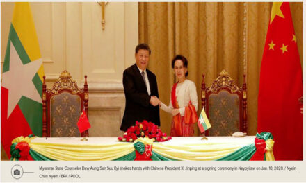 China Again Pushes BRI Projects in Congratulatory Message to Myanmar's NLD