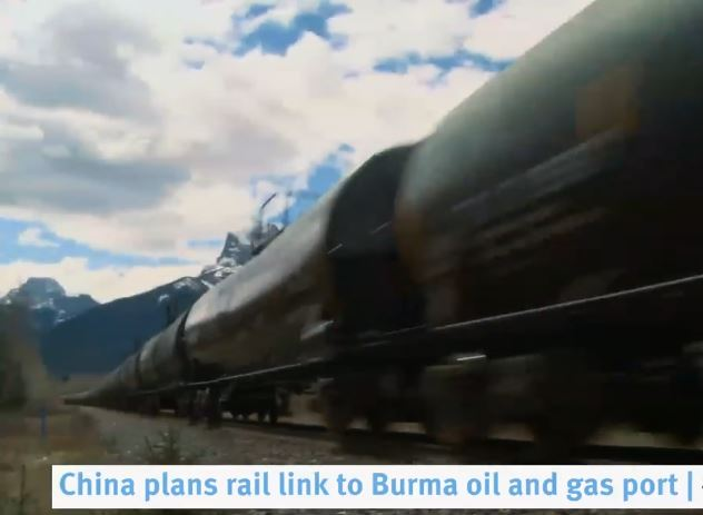 China plans rail link to Burma oil and gas port