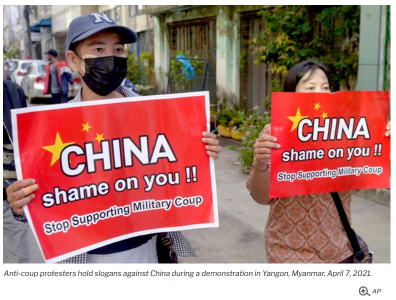 China Focuses on Domestic, Strategic Interests as Myanmar Killings Continue
